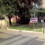 cartello e percorso dopo il cancello
